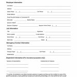 47 Printable Employee Information Forms (Personnel Information Sheets)   Free Printable Hr Forms