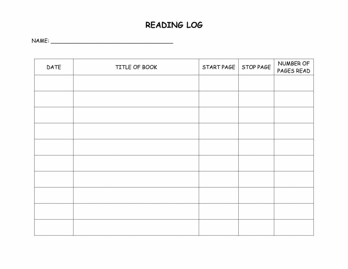 47 Printable Reading Log Templates For Kids, Middle School & Adults - Free Printable Story Books For Grade 2
