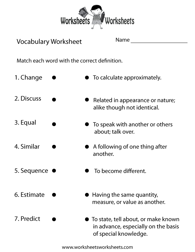 4Th Grade English Worksheets | Two Ways To Print This Free - Free Printable Vocabulary Quiz Maker