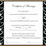 5+ Fake Marriage Certificate Template Free | Lbl Home Defense Products   Fake Marriage Certificate Printable Free