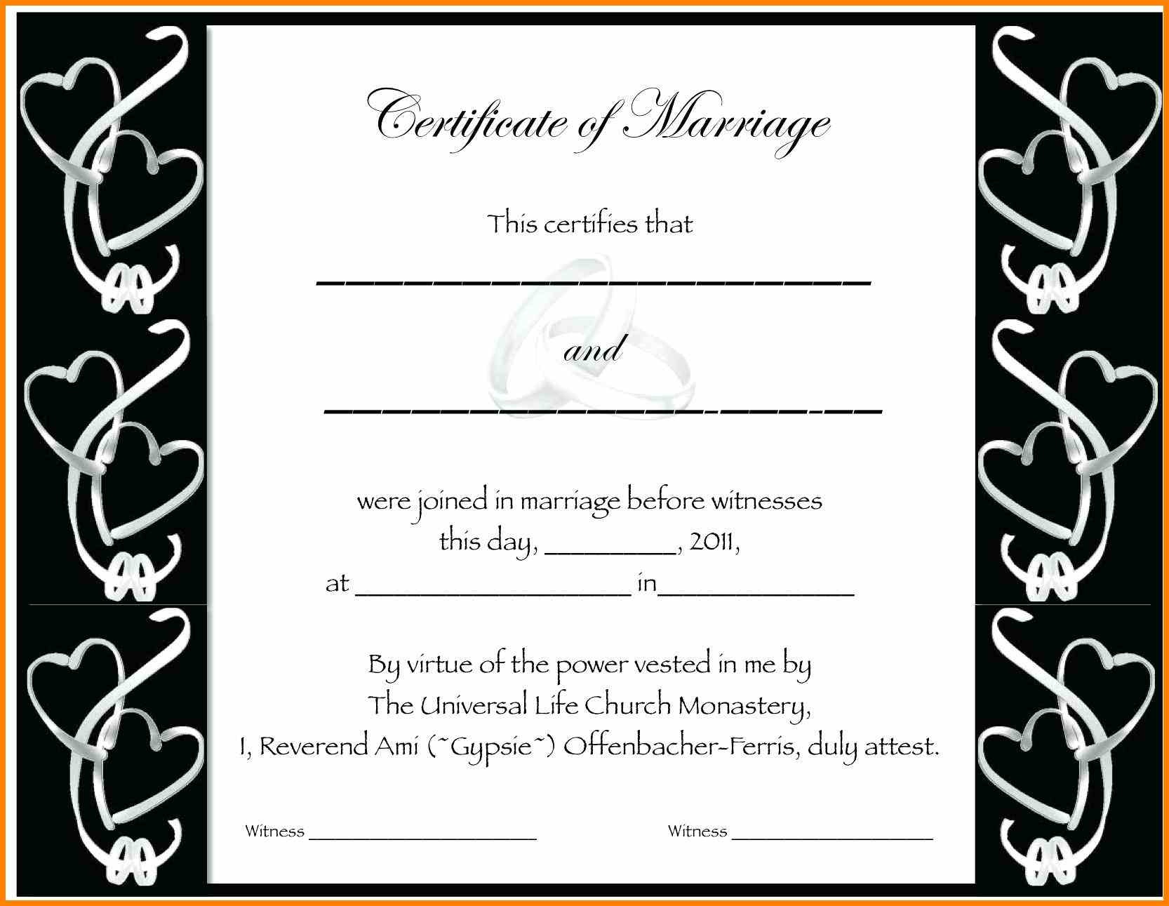 5+ Fake Marriage Certificate Template Free | Lbl Home Defense Products - Fake Marriage Certificate Printable Free