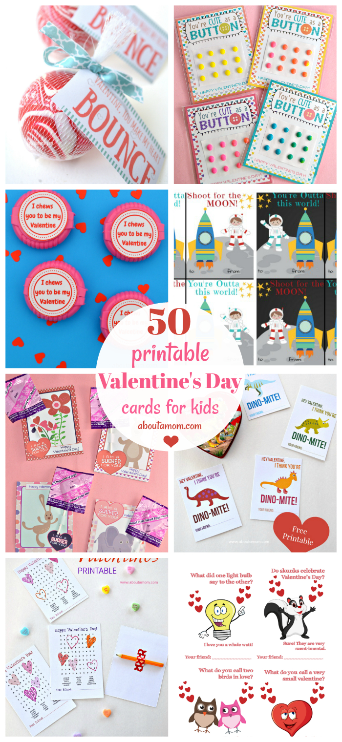 50 Free Printable Valentine's Day Cards - Free Printable Valentines Day Cards For Kids