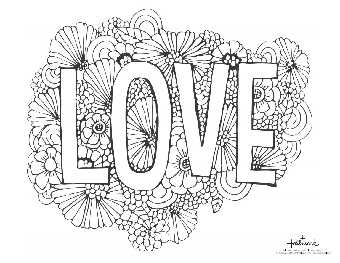 543 Free, Printable Valentine's Day Coloring Pages - Hallmark Free Printable Fathers Day Cards