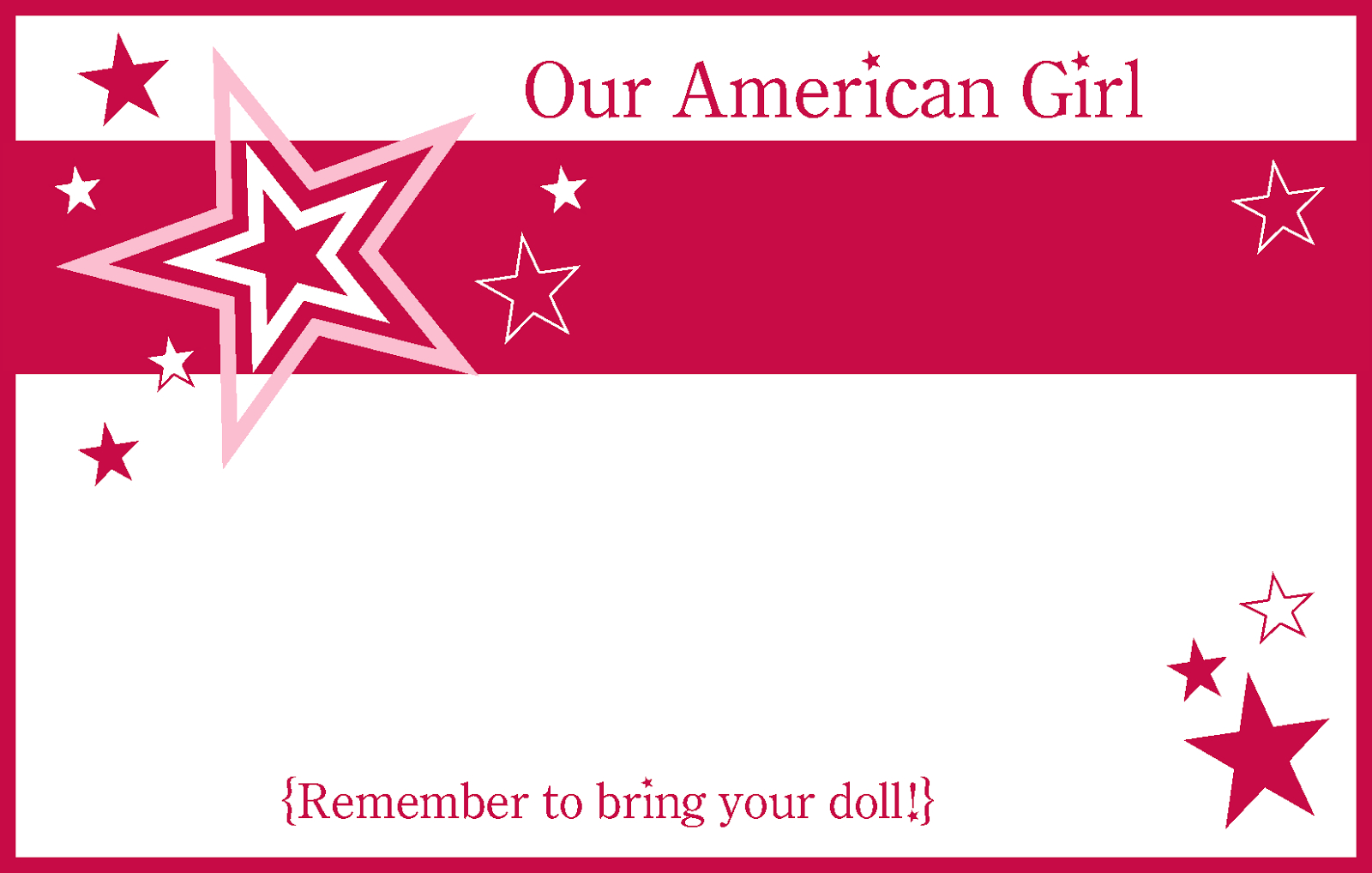 6/18/14American Girl Party Printablesamerican Girl Party Printables - American Girl Party Invitations Free Printable