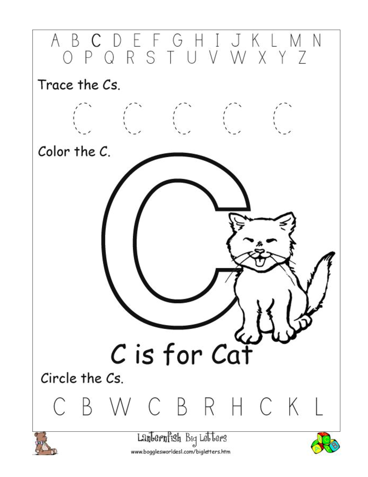 6 Best Images Of Free Printable Preschool Worksheets Letter C | Day - Free Printable Pre K Activities