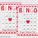 60 Valentines Bingo Cards Printable Valentine Bingo Cards | Etsy   Free Printable Bingo Cards Random Numbers