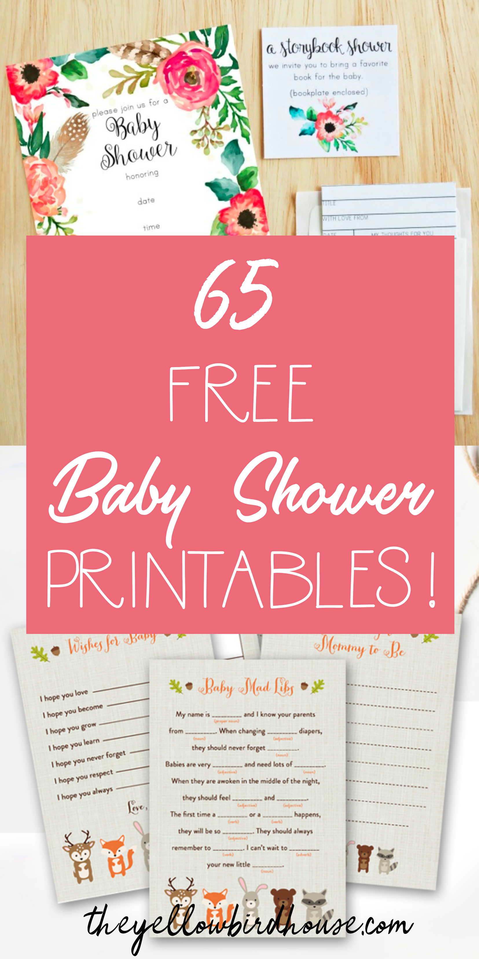 65 Free Baby Shower Printables For An Adorable Party - Free Printable Baby Sprinkle Invitations