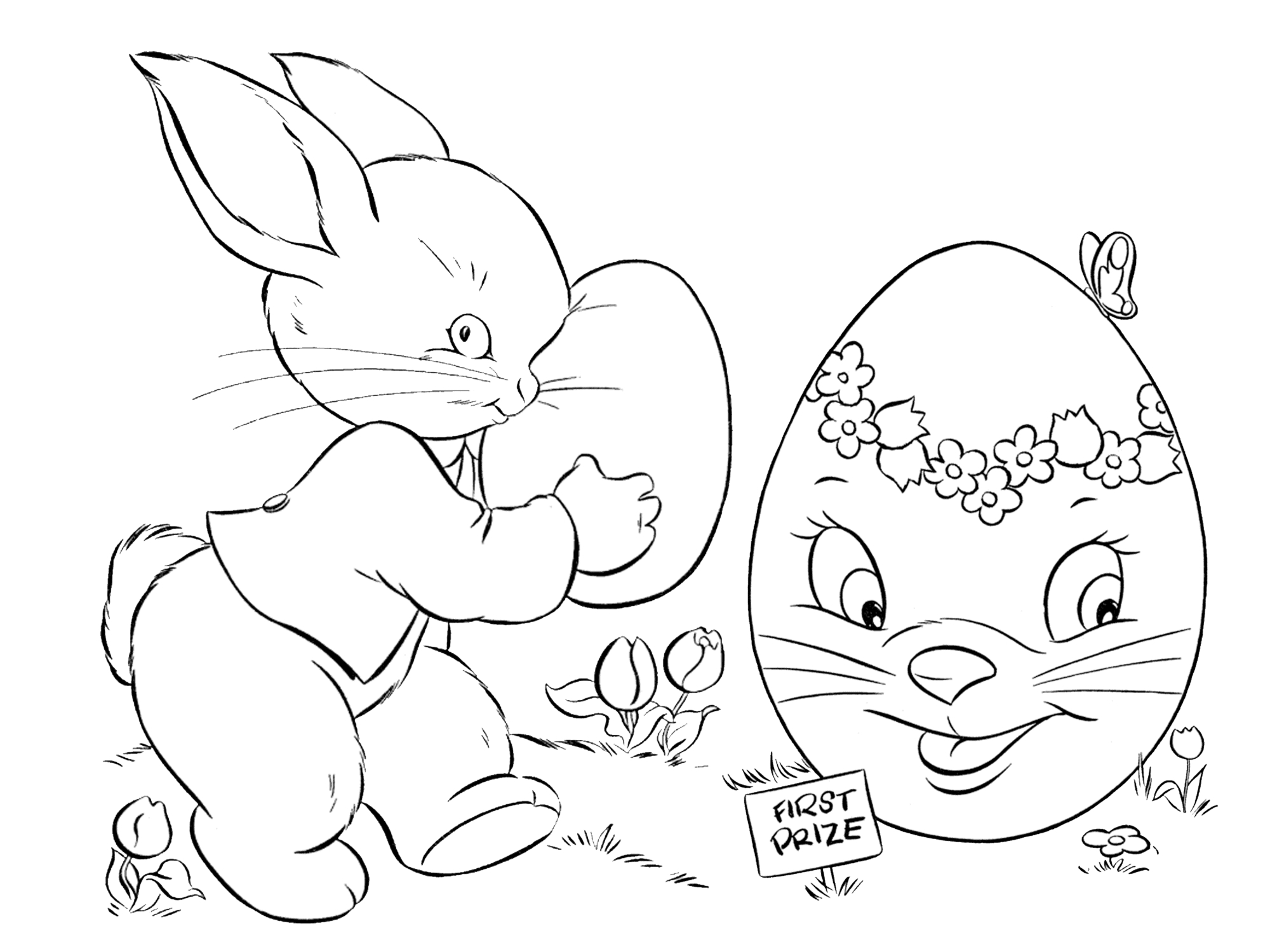 7 Places For Free, Printable Easter Egg Coloring Pages - Free Printable Easter Colouring Sheets