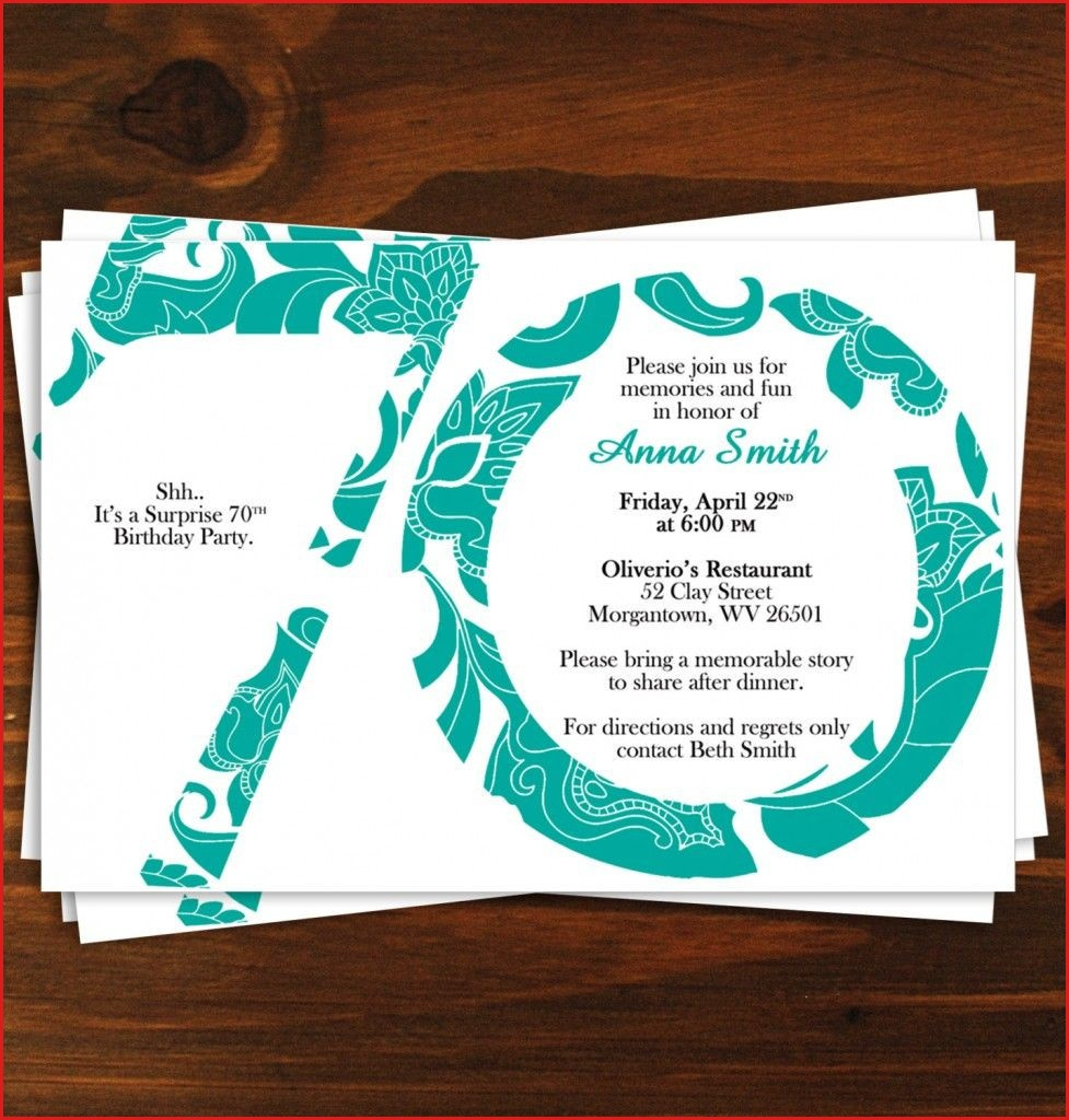 70Th Birthday Invitation Templates Birthday Ideas Free Printable - Free Printable 70Th Birthday Party Invitations