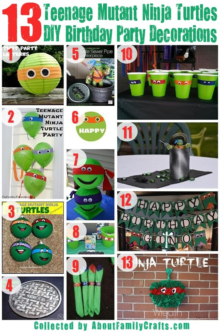 75+ Diy Teenage Mutant Ninja Turtles Birthday Party Ideas – About - Free Printable Ninja Turtle Birthday Banner