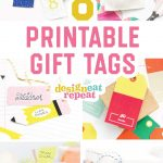 8 Colorful & Free Printable Gift Tags For Any Occasion!   Birthday Party Favor Tags Printable Free