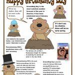 8 Free Esl Groundhog Day Worksheets   Free Printable Groundhog Day Reading Comprehension Worksheets