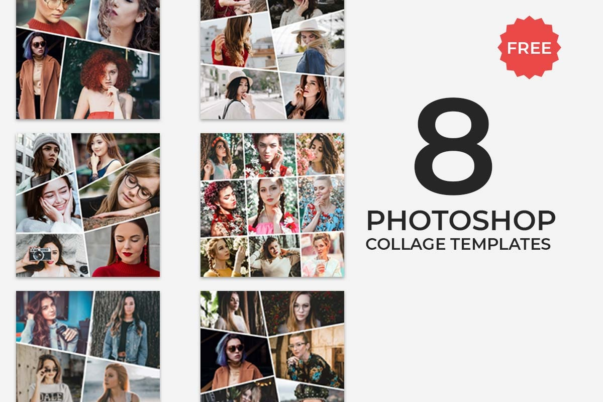 8 Free Photoshop Collage Templates - Creativetacos - Free Printable Photo Collage Template