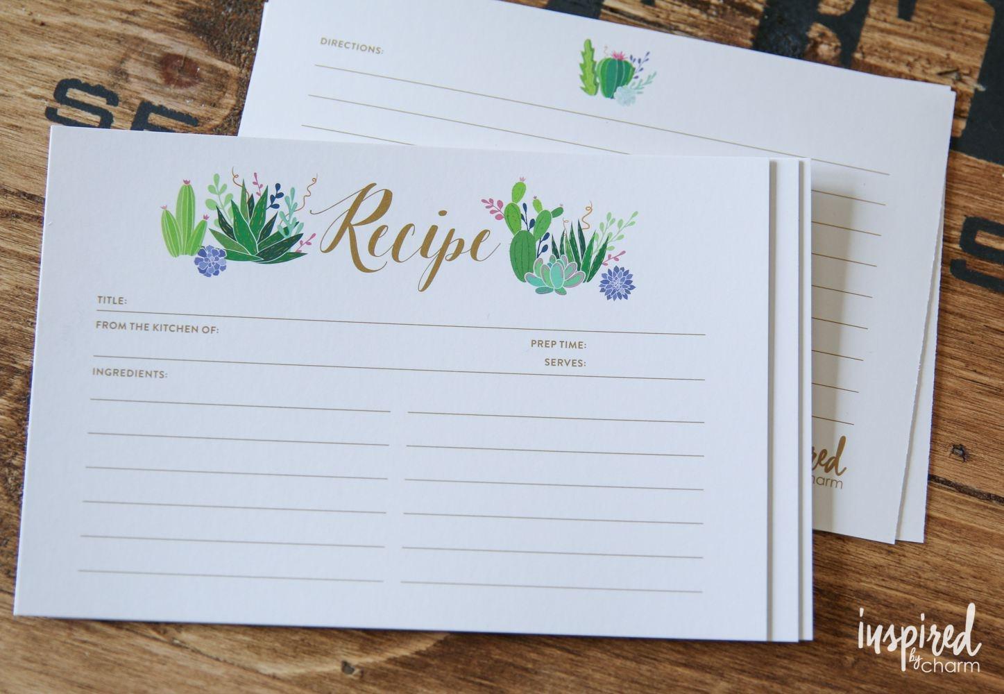 9 Free Printable Recipe Card Sets - Free Printable Photo Cards 4X6