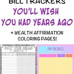9 Printable Bill Payment Checklists And Bill Trackers   The Artisan Life   Free Printable Bill Tracker