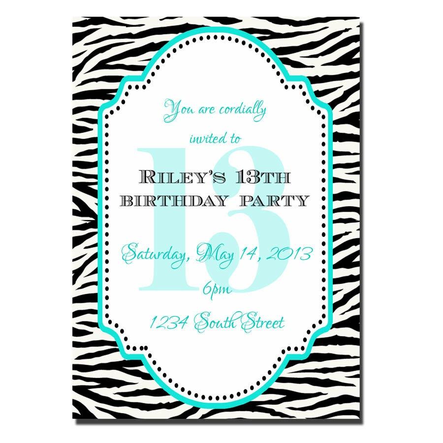 91+ 13Th Birthday Invites - Pink Birthday Party Invitations Modern - 13Th Birthday Party Invitations Printable Free