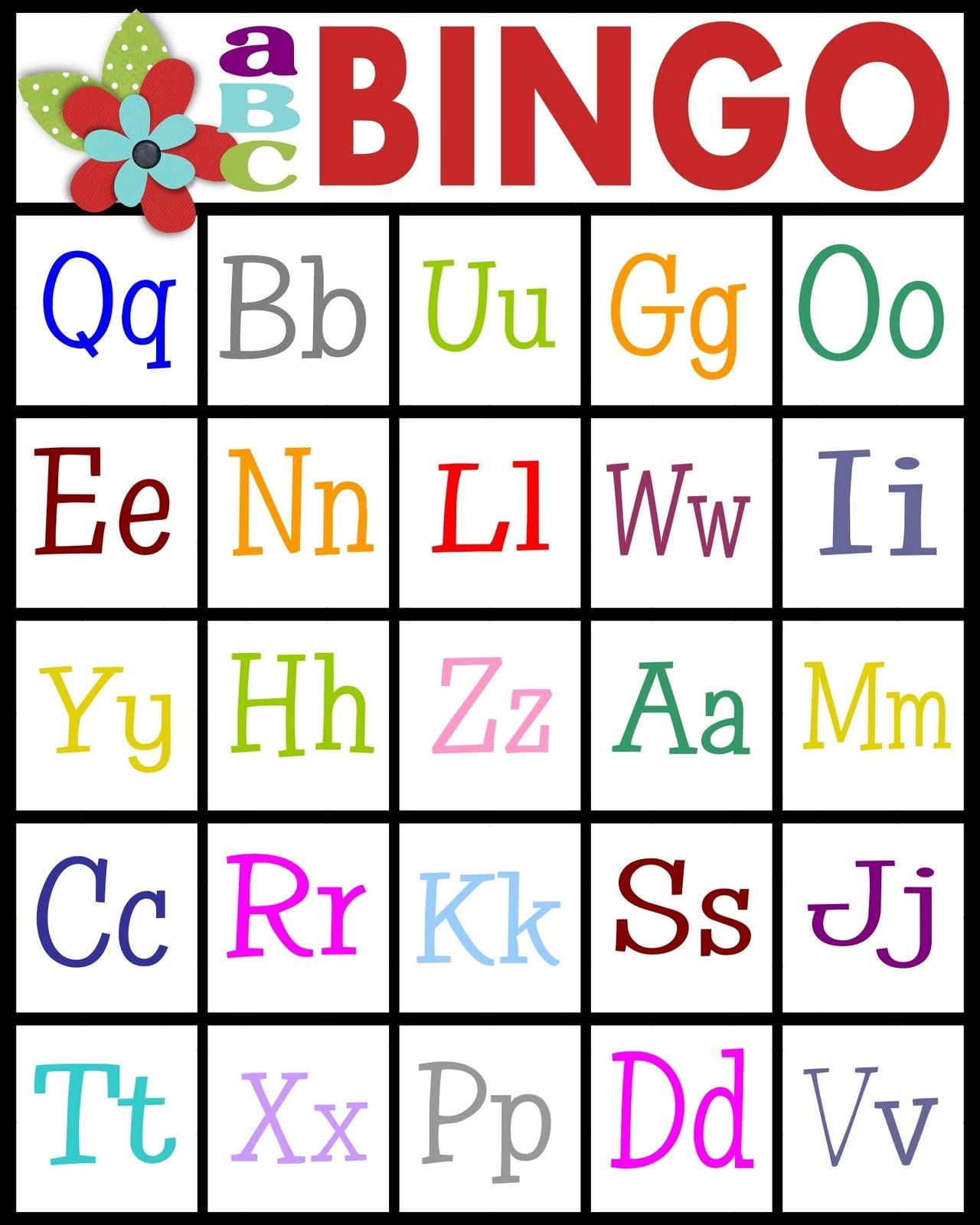 Abc's Bingo- Free Printable! - Sassy Sanctuary - Free Printable Alphabet Bingo Cards