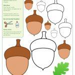 Acorn Templates / Acorn Shapes | A New Rug | Acorn Crafts, Templates   Acorn Template Free Printable