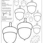 Acorn Templates / Acorn Shapes | Preschool: Fall | Felt Crafts   Acorn Template Free Printable