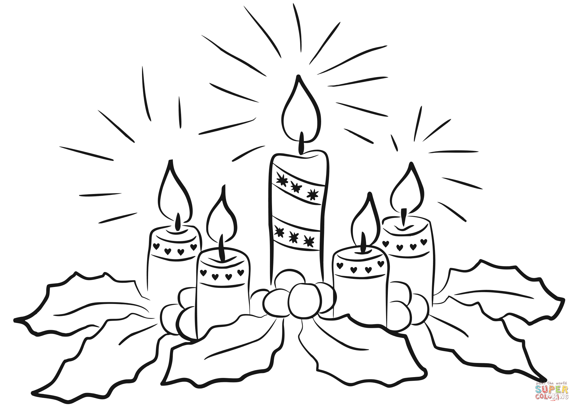 Advent Candles Coloring Page | Free Printable Coloring Pages - Free Printable Advent Wreath