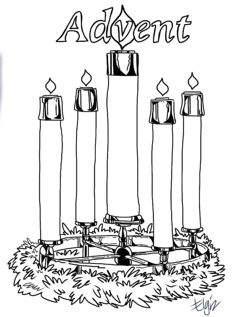 Advent Candles Coloring Pages - Ministry-To-Children - Free Printable Advent Wreath