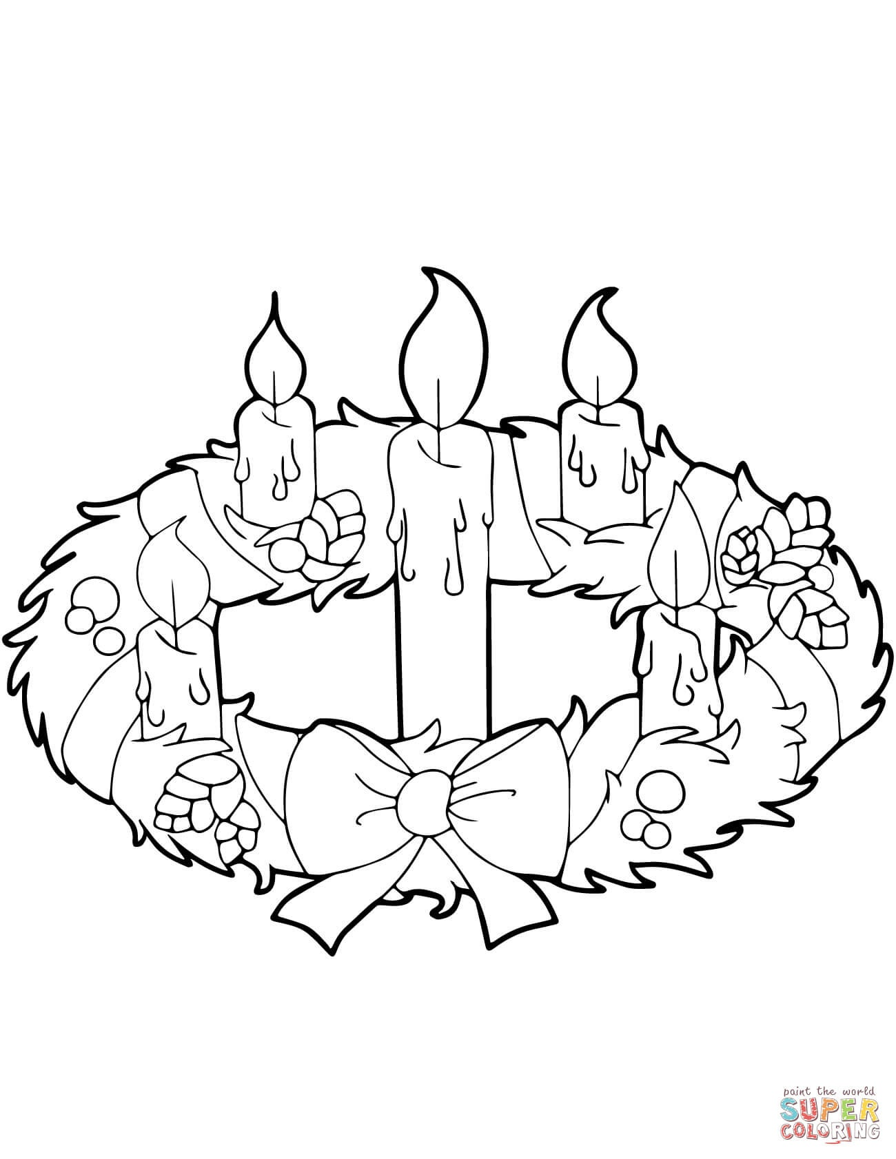 Advent Wreath And Candles Coloring Page | Free Printable Coloring Pages - Free Printable Advent Wreath