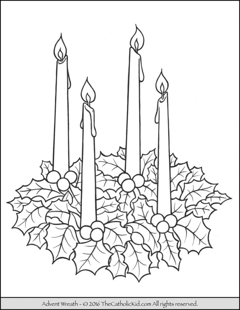 Advent Wreath Coloring Page - - Free Printable Advent ...