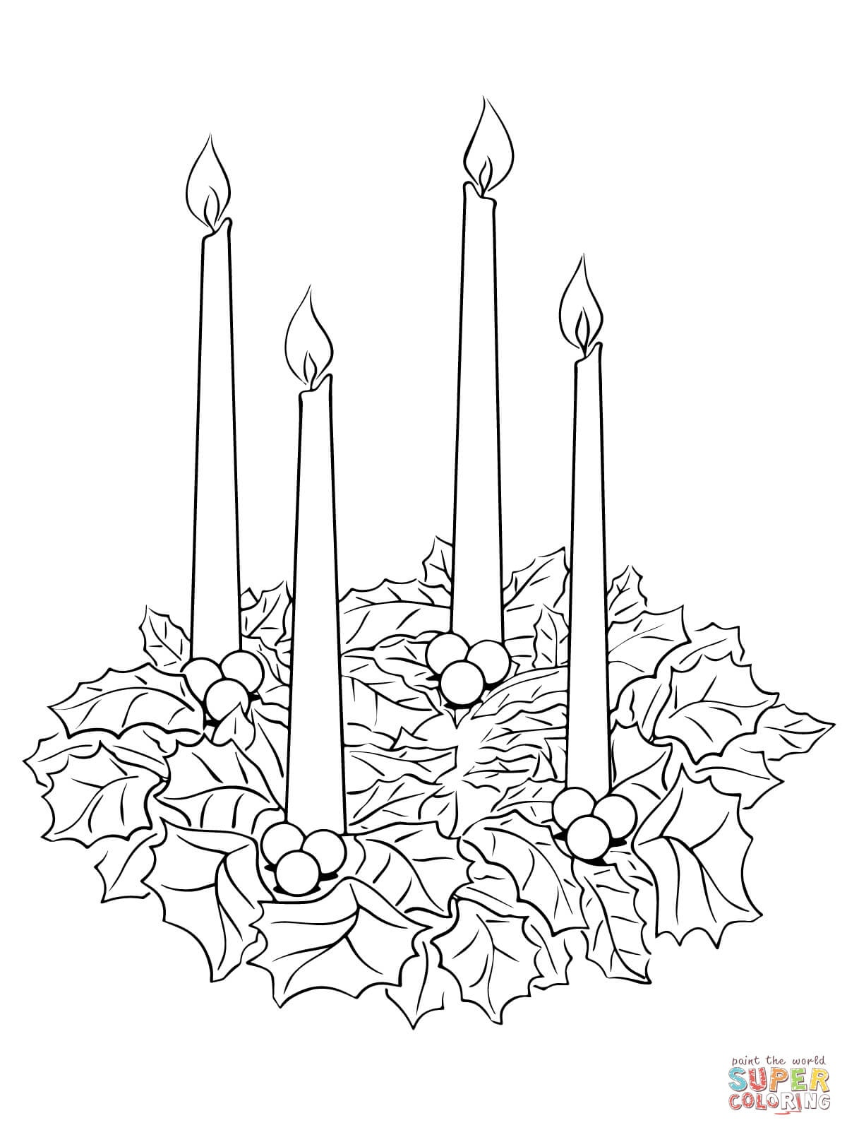 Advent Wreath Coloring Page | Free Printable Coloring Pages - Free Printable Advent Wreath