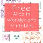 Alice In Wonderland Signs And Free Printables | The Life Jolie   Alice In Wonderland Signs Free Printable