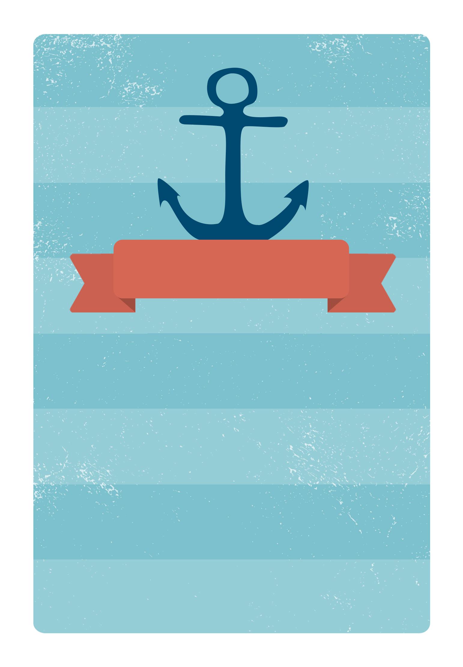 Anchored Ribbon - Free Printable Party Invitation Template - Free Printable Anchor Template