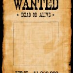 Another High Caliber Wanted Poster Template. Reprinted In Shades Of   Free Printable Wanted Poster Invitations