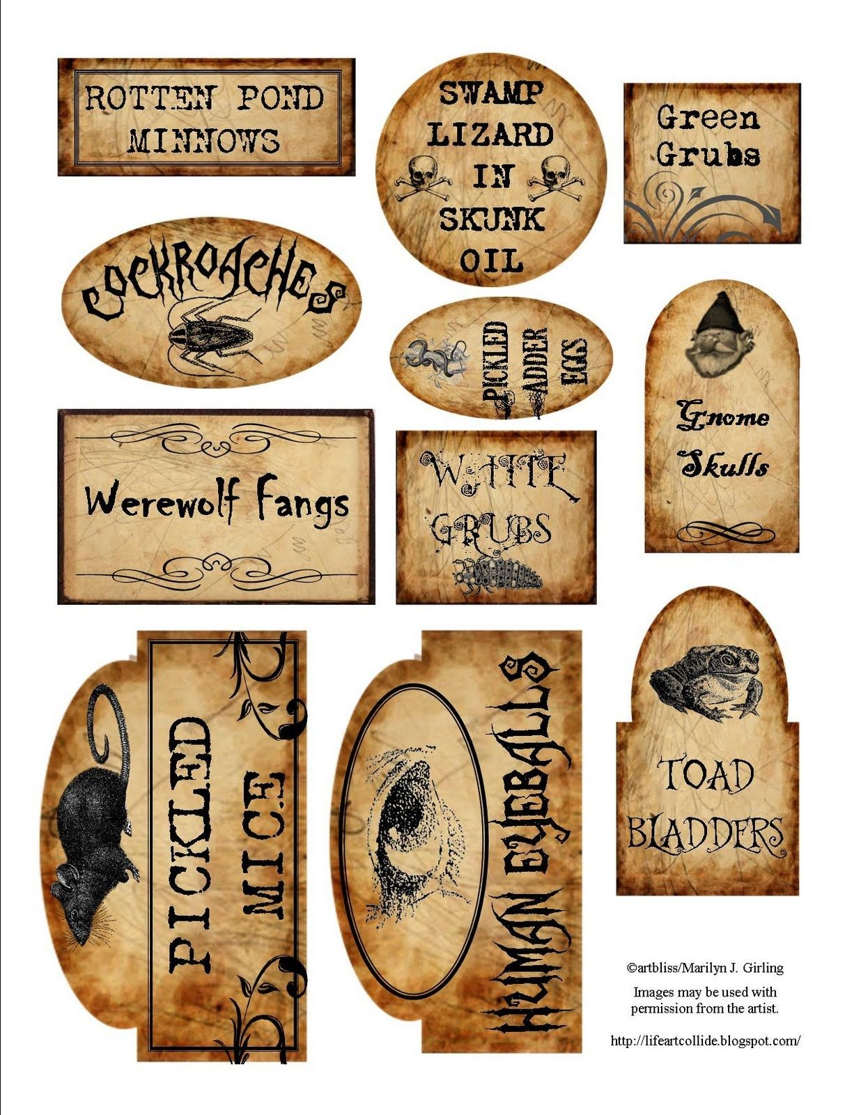 Apothecary Jar Labels For Download …   Holiday   Halloween - Free Printable Potion Labels