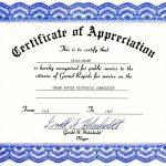 Appreciation Certificate Templates Free Download   Sports Certificate Templates Free Printable