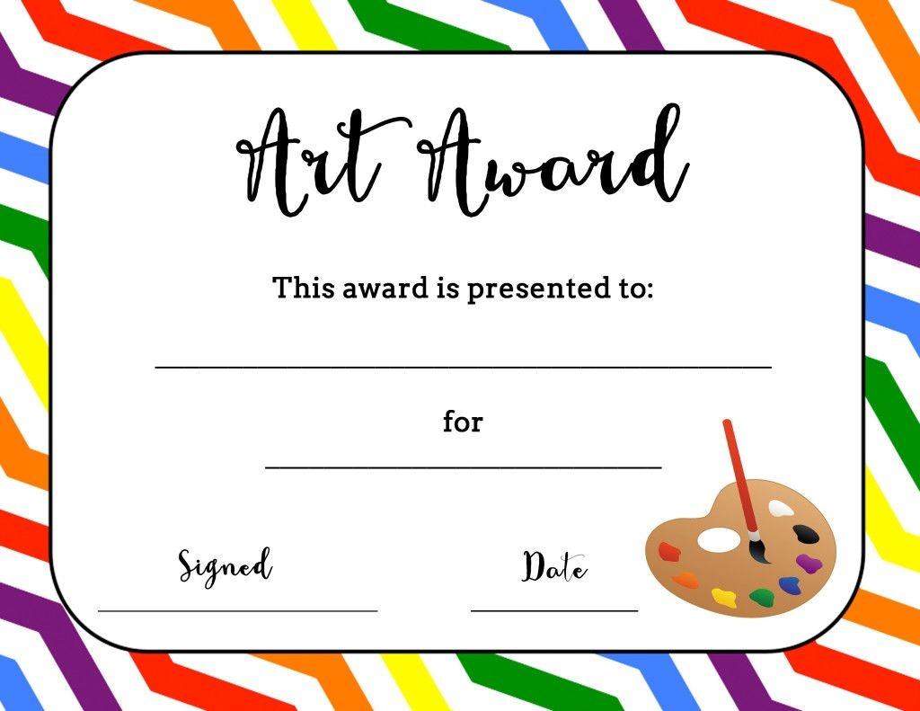 Art Award Certificate (Free Printable) | Art | Art Classroom - Free Printable Student Award Certificate Template