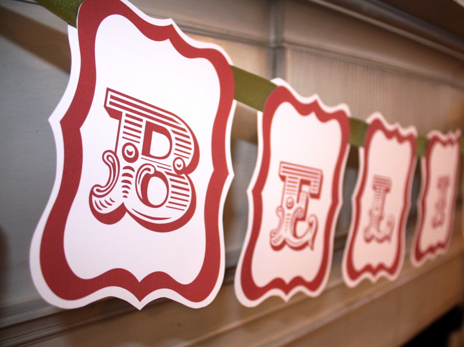 At Second Street: Believe Banner - Free Printable - Free Printable Christmas Banner