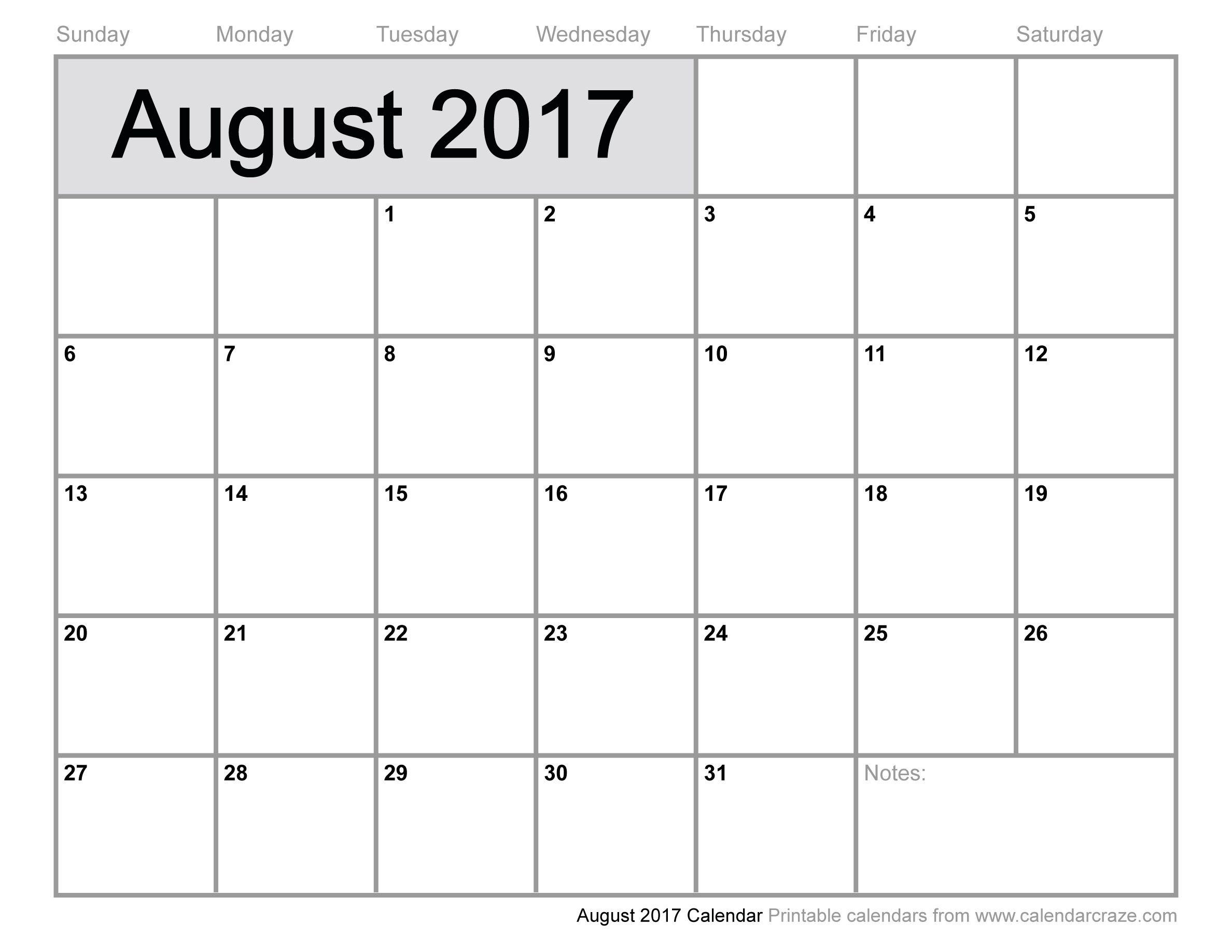 August 2017 Calendar Uk, August 2017 Uk Calendar, August Calendar Uk - Free Printable August 2017
