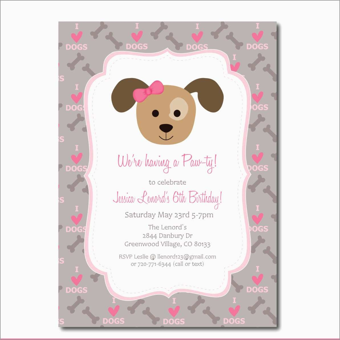 Awesome Dog Birthday Party Invitations Templates Free | Best Of Template - Dog Birthday Invitations Free Printable