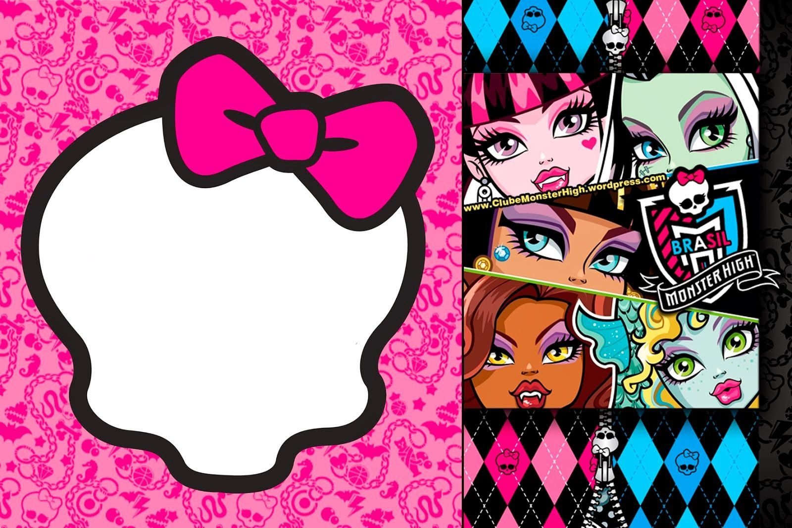 Awesome Free Printable Monster High Birthday Invitations Layout - Monster High Cupcake Toppers Printable Free