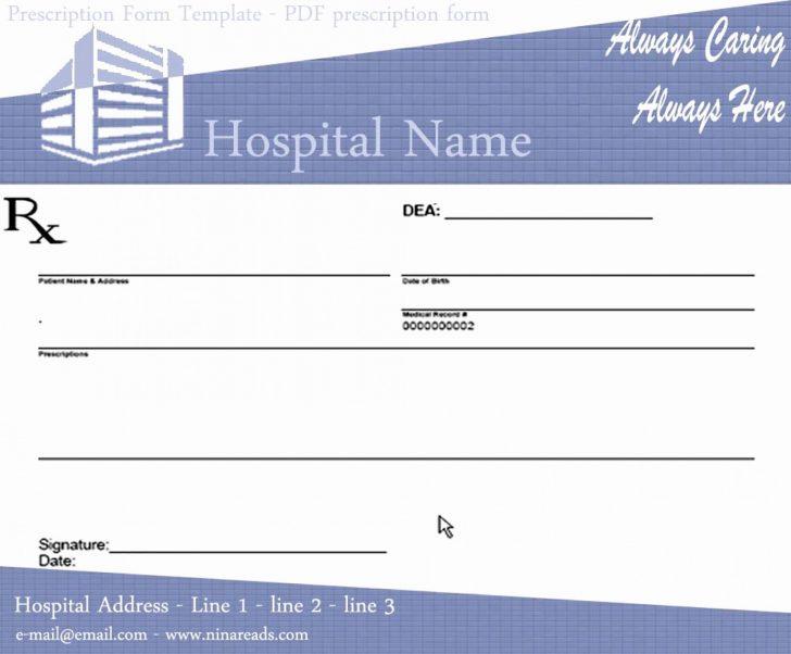 Free Printable Prescription Pad