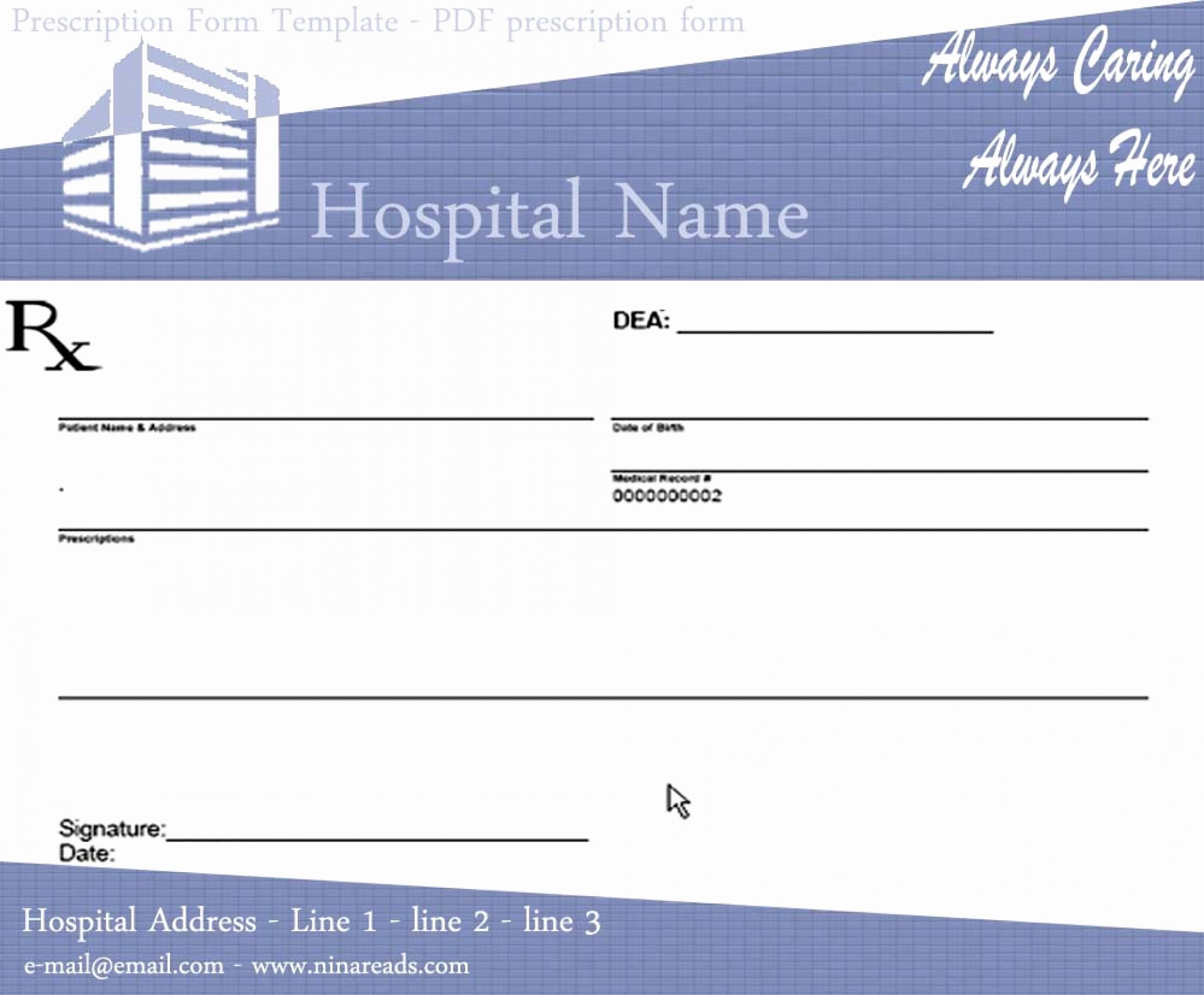 Awesome Prescription Template Microsoft Word Ideas Medication List - Free Printable Prescription Pad