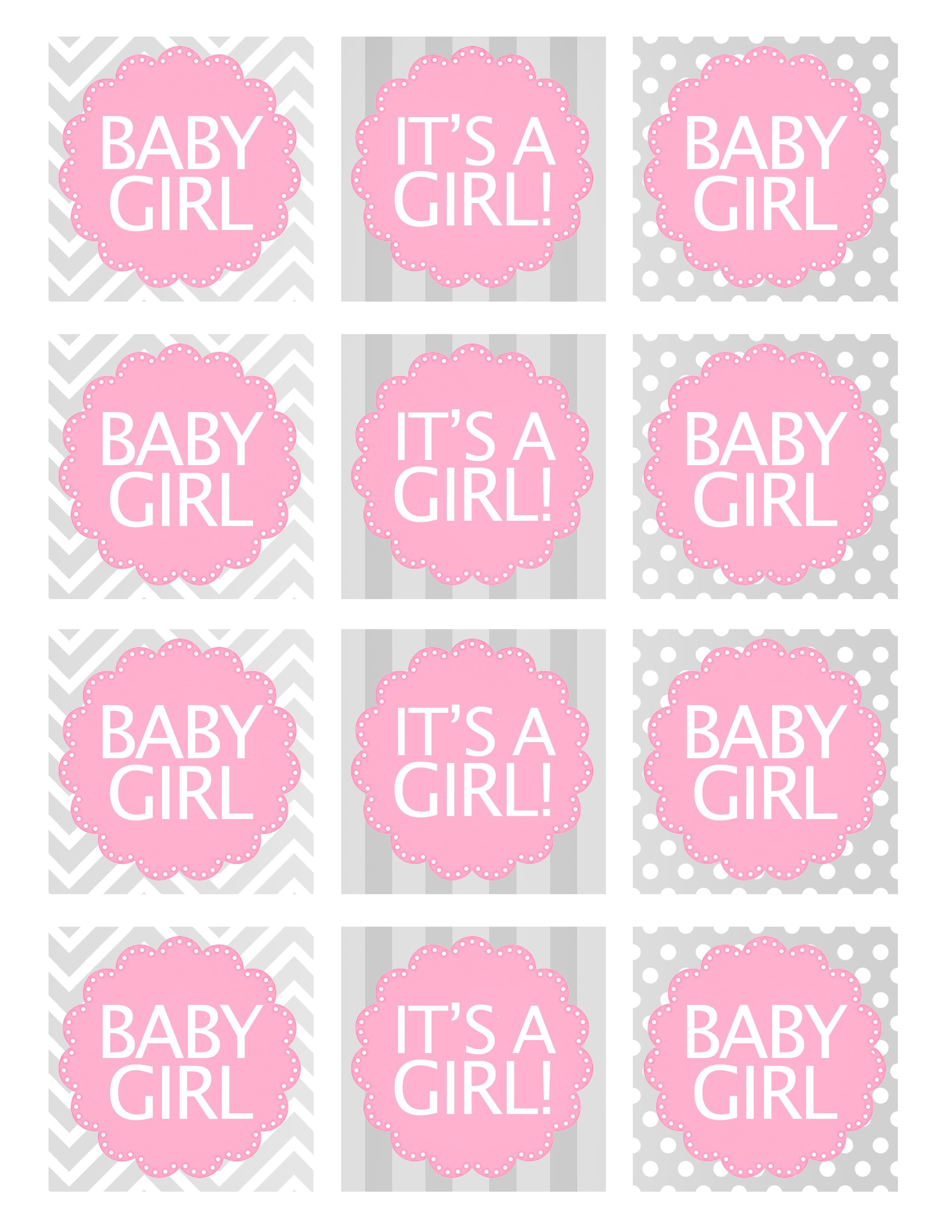 Baby Girl Shower Free Printables | Baby Shower Ideas | Baby Shower - Free Printable Baby Shower Favor Tags