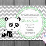 Baby Shower Invitation Green Panda Bear And Free Thank You | Etsy   Panda Bear Invitations Free Printable