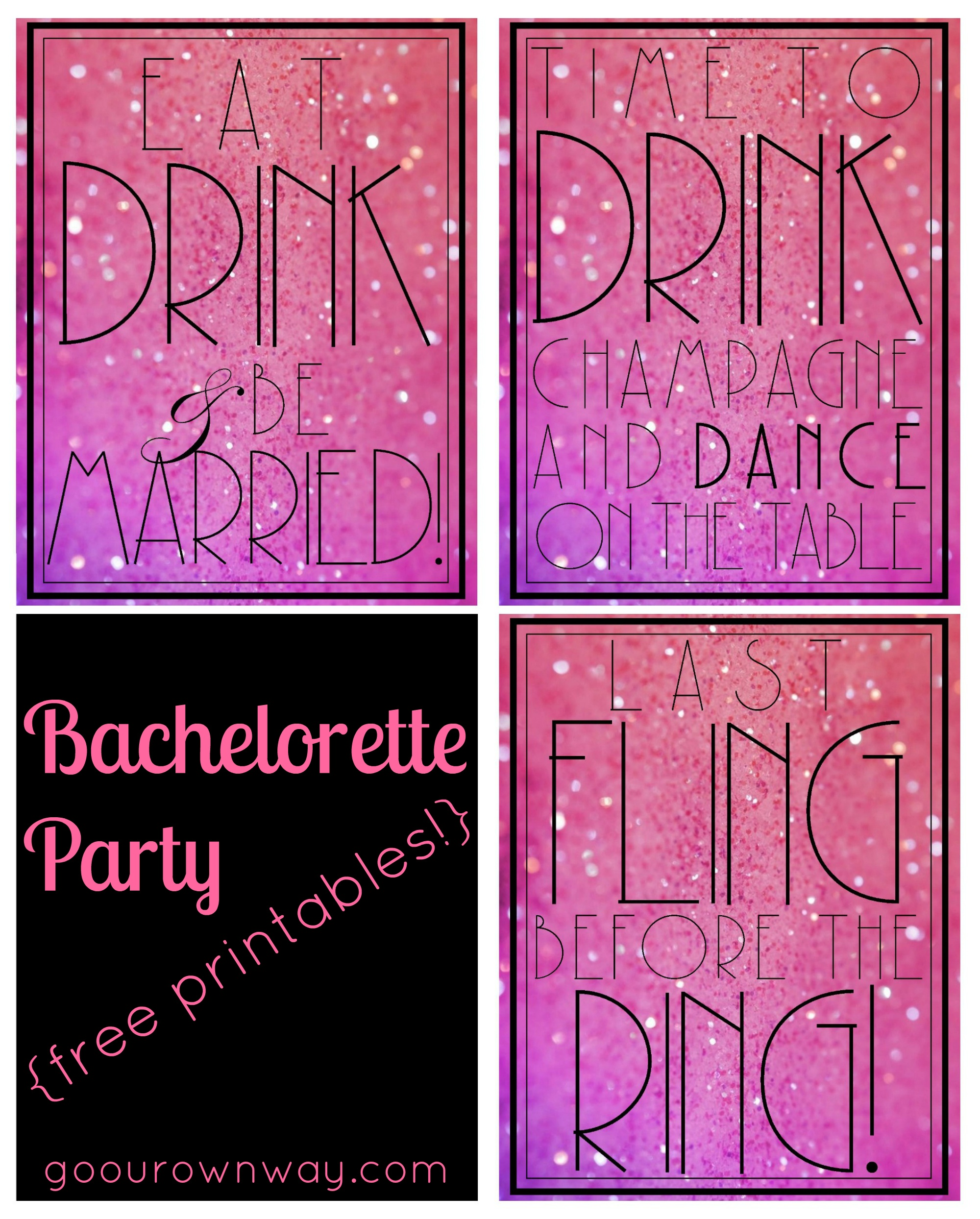 Bachelorette {Free Printables} | Go Our Own Way - Free Printable Bachelorette Signs