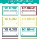 Back To School Printable Labels | I ♥ Diy | School Labels   Free Customized Name Tags Printable