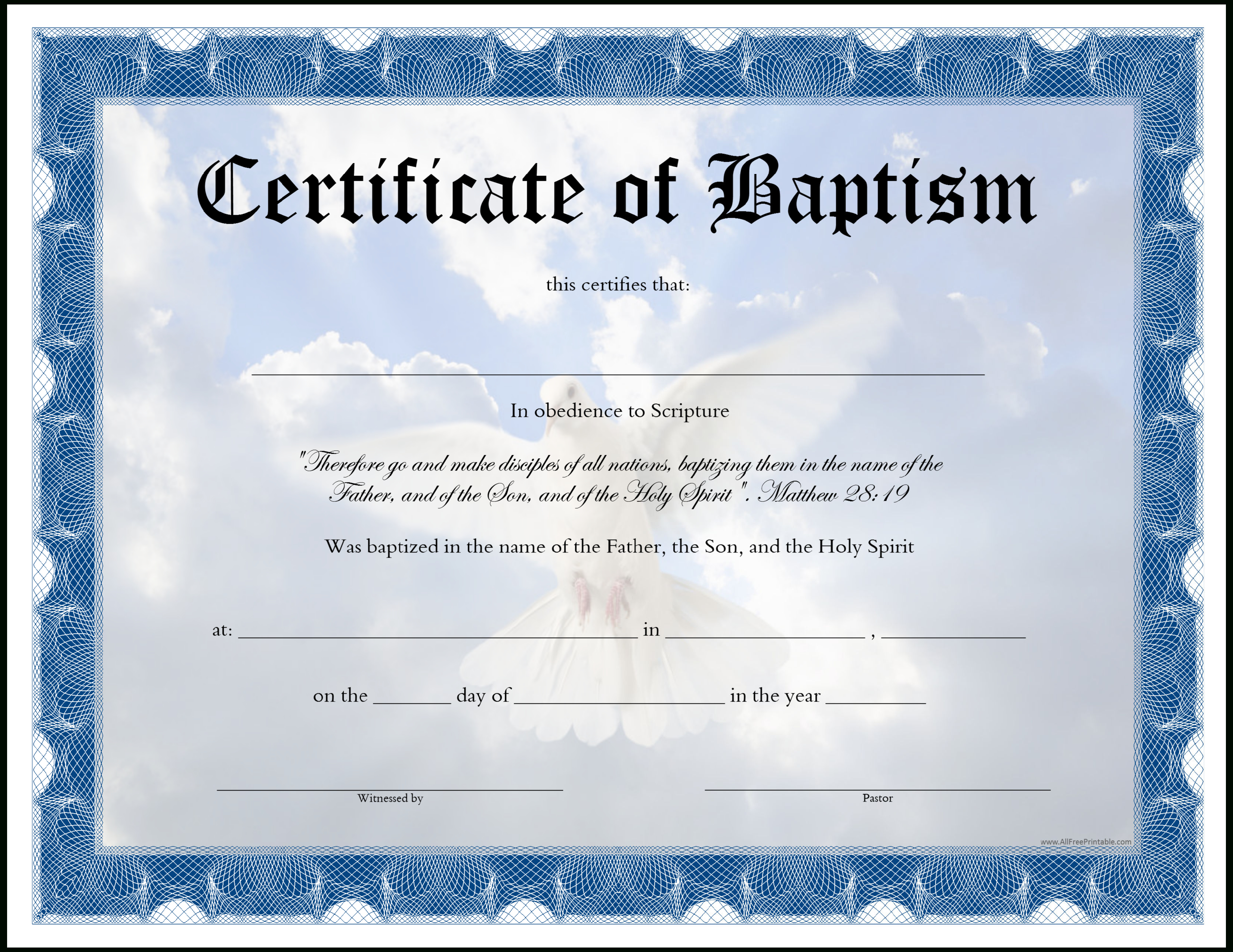 Baptism Certificate - How To Craft An Appealing Baptism Certificate - Free Printable Baptism Certificate