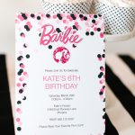 Barbie Birthday Party With Free Printable Barbie Designs   Free Printable Polka Dot Birthday Party Invitations