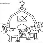 Barn Coloring Pages   Barn Coloring Pages Two Horse And Barn Free   Free Printable Barn Coloring Pages