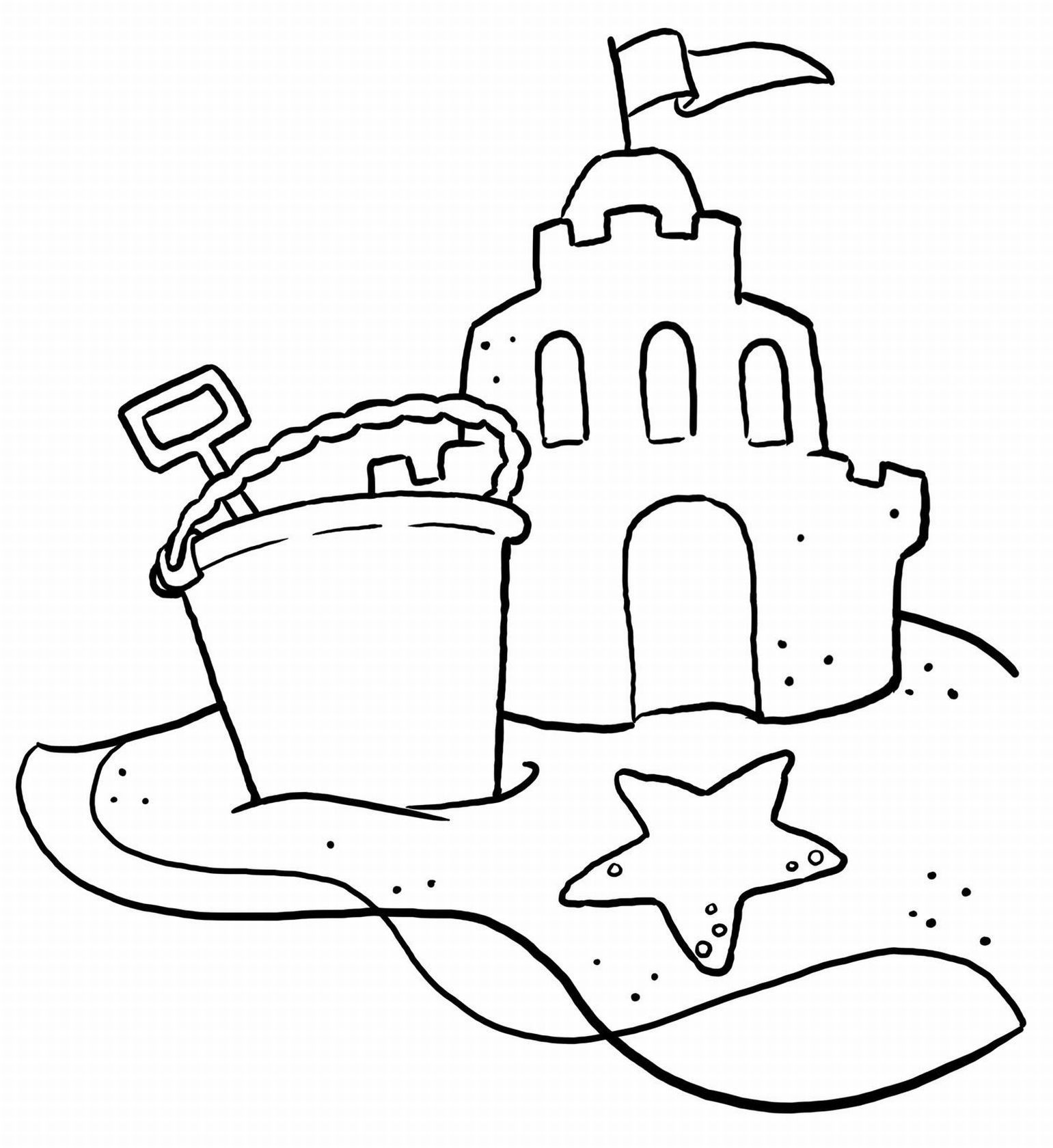Beach Coloring Pages : 20 Free Printable Sheets To Color | Beach - Free Printable Beach Coloring Pages