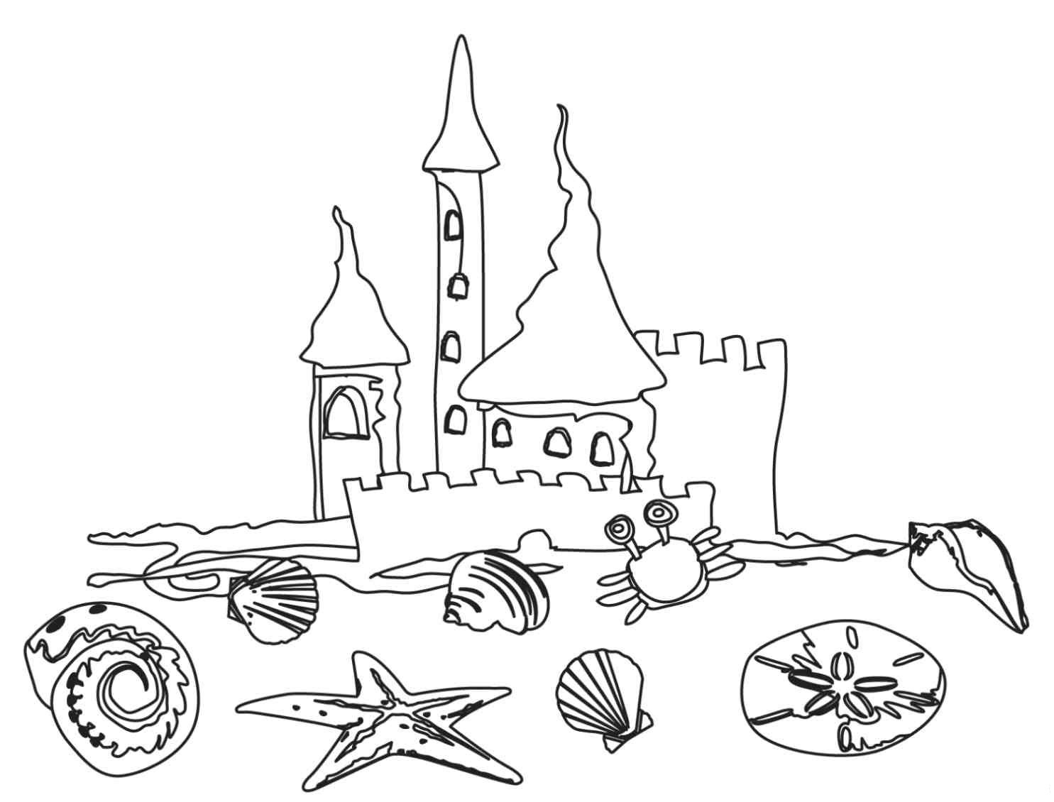 Beach Coloring Pages - Beach Scenes & Activities - Free Printable Beach Coloring Pages