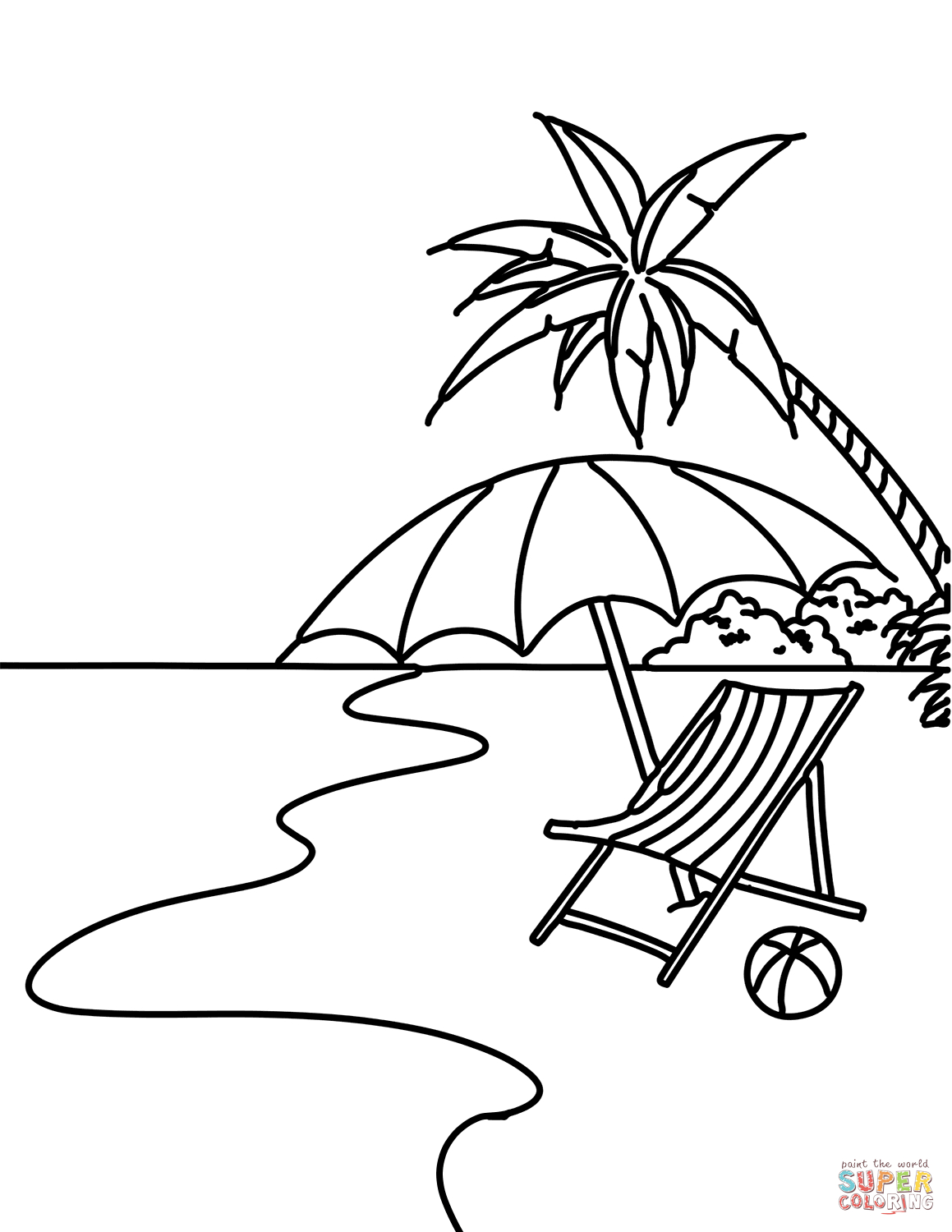Beach Coloring Pages | Free Coloring Pages - Free Printable Beach Coloring Pages